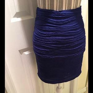 Forever 21 Mini Royal Blue Mini Skirt